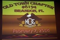 February 7, 2014 Chapter Meeting