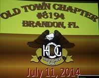 July 11, 2014 Chapter Meeting