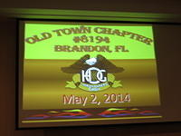 May 2, 2014 Chapter Meeting