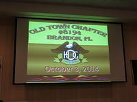 October 3, 2014 Chapter Meeting